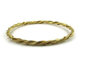 Gold Tone Twist Bangle Bracelet