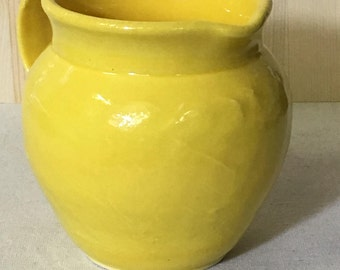 Bright Yellow Pitcher