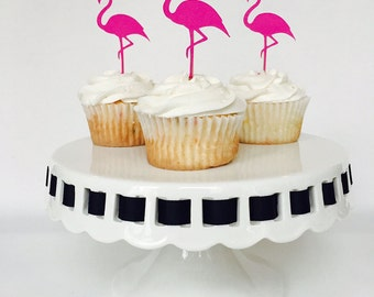 Flamingo Cupcake Toppers - Flamingle - Bridal Shower - Birthday Party - Tropical - Baby Shower - Bachelorette Party - Pink - Cake Topper