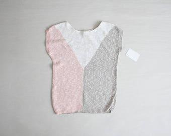 linen sweater | pastel sweater | colorblock sweater