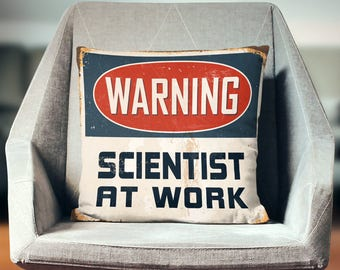 Science Pillow Cover | Science Gift | Scientist Gift | Throw Pillow | Pillow Case | Pillowcase | Home Decor | Art | Print