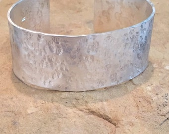 Wide hammered sterling silver cuff bracelet, cuff bracelet, hammered  silver bracelet, sterling silver bangle, hammered bangle bracelet