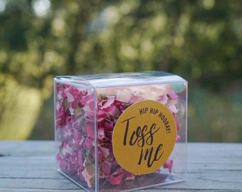 Wedding Confetti Boxes // Pink + Gold