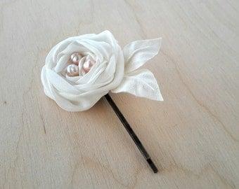 Wedding Hair Flower Pins Bridesmai Hair Pins Silk Flower Rose Hair Accessory Pearl Wedding Hair Jewelry Bridal Hair pins