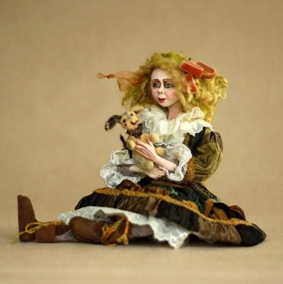 Art Doll | Doll Art | OOAK Art Doll | Artist Doll Handmade Doll | OOAK Clay Art | Christmas Doll | Christmas Gift Doll | Home Decor Doll