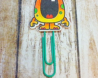 Orange Monster Paper Clip
