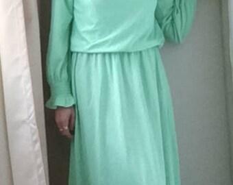 Green Grecian Goddess Vintage Costume, UK 10-12