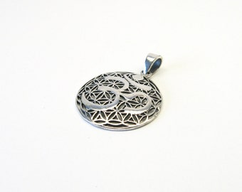 Flower of life ohm OM Aum Sterling Silver 925 jewellery charms