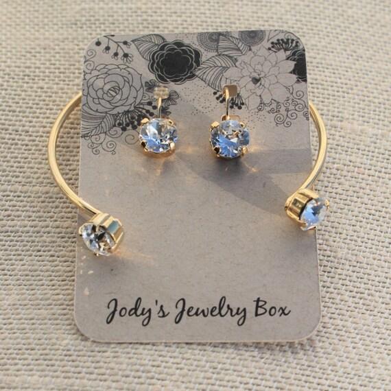 Gold Swarovski Crystal Open Bangles! empty cup bangles