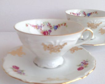 Set of 2 Vintage Winterling Bavaria Germany Cups and Saucers
