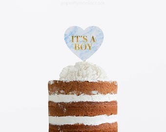 Oh Baby Cake Topper, Baby Shower Cake Topper, Baby Shower Glittery Cake Topper, Topper Gender Reveal Party