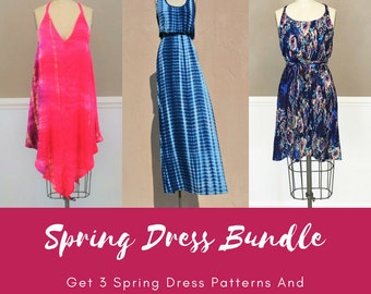 PDF Pattern Bundle - Coral, Avery, and Indigo- Sizes XS-XXXL