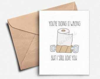 Funny Anniversary Card, Card for Boyfriend, Love Card, Card for Him, Birthday Card Boyfriend, Anniversary Gifts for Boyfriend, Husband, Wife