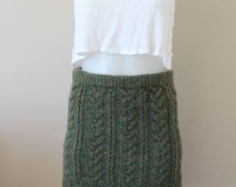 Vintage Ralph Lauren Wool Hand Knit Mini Skirt Ladies 6-8