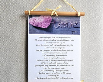 Custom, Love poem, Personalized, sentimental gift, Anniversary gift, Romantic gift, Gift for Husband, Falling in love, Love gift for him