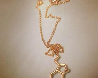 Serotonin dainty necklace