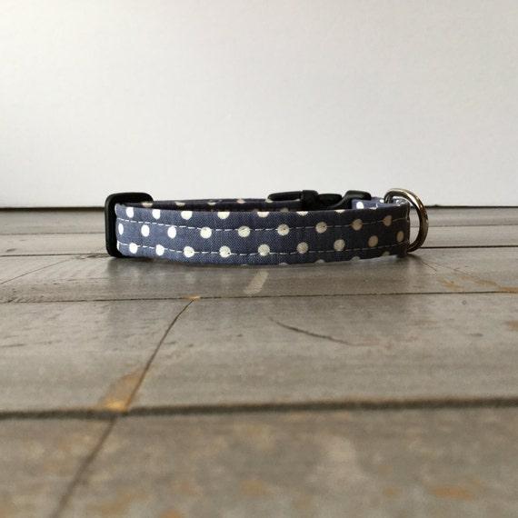 Modern DOG COLLAR, Made to Order, Polka Dot, Cool COLLAR, Pretty Dog Collar, Puppy Collar