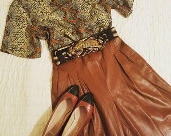 Vintage Leather Pants, Highwaist Leather Pants, Brown Leather Pants, Vintage Brown Pants, Highwaist Brown Pants, Vintage Brown Leather