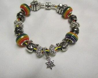 Pandora Leather European Charm Bracelet#729
