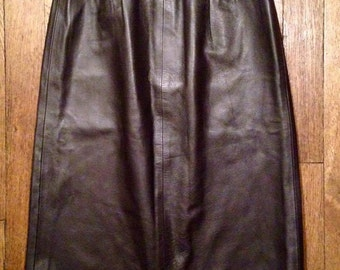 Skirt high waist leather