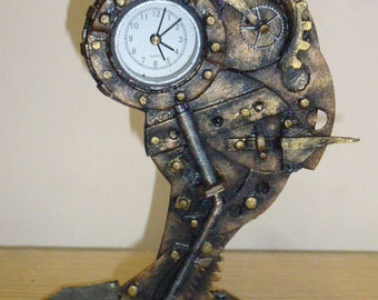 steampunk clock,