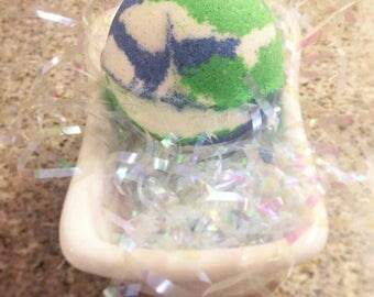 Large Earth Bath Bomb | Basil, Sage, & Mint Scent