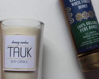 Honey Melon Natural Soy Wax 8 oz Candle