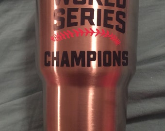 2016 Chicago Cubs World Series Champions Vinyl Decal- Sticker