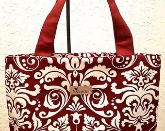 Waterproof Tote Bag - Burgundy