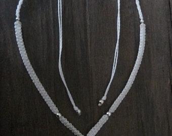 Macrame necklace FREE SHIPPING! Lapis Lazuli White Boho