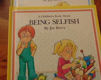 2 Vintage Books  A Children's Book About Being Selfish and Lying    Joy Berry  Help Me Be Good Childs Book