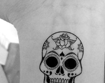 2 skull / skull / temporary tattoos / wrist tattoos / tattoo / fake tattoo / temporary tattoo / black