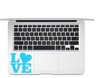 Love Heart Decal - Love Car Decal - Love Sticker - Love Laptop Decal - Gift for Girl Friend - Quote Decal - Love Yeti Decal - Girly Decals