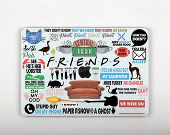 Friends Mac Macbook Decal Friends Laptop Stickers MacBook Decal Mackbook Sticker Mac Book Stickers Macbook Air Skin SG072