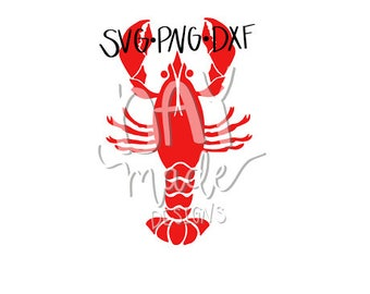 Crawfish SVG (Crayfish), Crawfish cut file