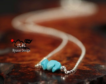 Turquoise Necklace, Sleeping Beauty Turquoise,Real Turquoise Necklace,Turquoise Jewelry, Sterling silver,Gemstone Necklace, Gift for her