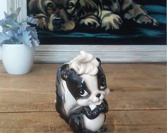 SKUNK figurine, vintage skunk, Japan figurine, skunk collection, animal figurine, cute figurine