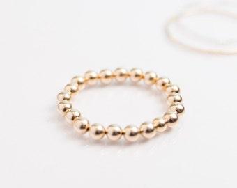 Large Gold Beaded Bracelet - 8mm