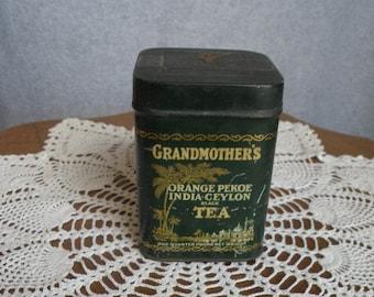 Grandmother's Black Tea Tin - Orange Pekoe India Ceylong