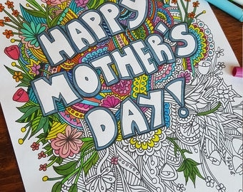 Mother's Day Coloring Page PDF