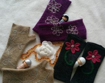 HANDMADE Fingerless Gloves Virgin Wool