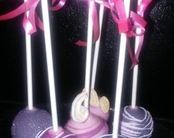 Pink and Purple Cake Pops