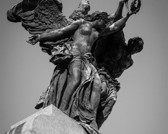 A beautiful canvas print of the top of the War Memorial in Ottawa, Ontario