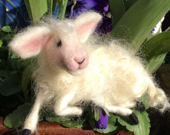 Spring Lambs - needle felted sculptures