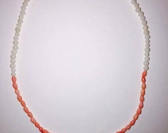 my favorite choker, super cute! coral and gold lucky dice choker. 15 inch