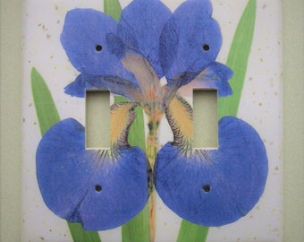 Blue Iris Light Switch Cover Switchplate