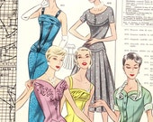NEW!! PDFs of vintage 50s pattern drafting system - instant download - Spring 1957
