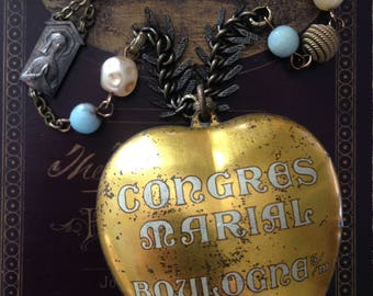 French Congres Marial Statement Necklace