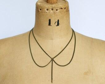 Spike Drop Collar Necklace