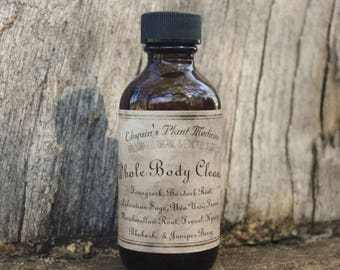 Whole Body Cleanse Tincture 2oz Wildcrafted, Organic & Ethically Sourced